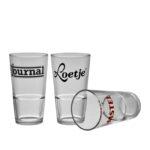 Biervaasjes - Bierwinst logo op glaswerk - Horeca Glaswerk