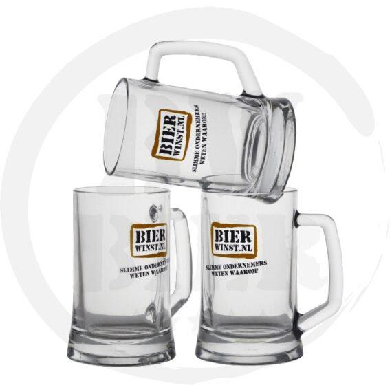 Logo 1 kleur - 6x Bierpul - Bedrukking - Bierwinst Horeca Bierpullen Bedrukken