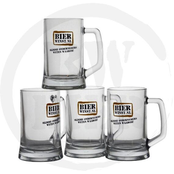 Logo 1 kleur - 6x Bierpul - Bestellen - Bierwinst Horeca Bierpullen Bedrukken