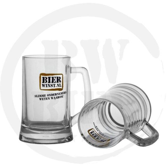 Logo 1 kleur - 6x Bierpul - Bierwinst Horeca Bierpul Bedrukken