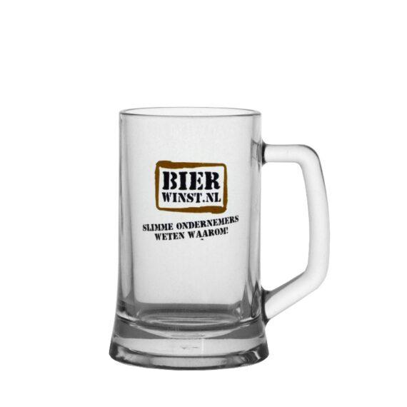 Logo 1 kleur - 6x Bierpul - Bierwinst Horeca Bierpullen Bedrukken