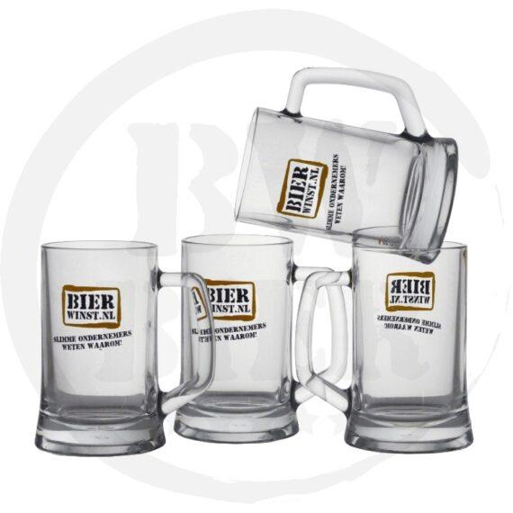 Logo 1 kleur - 6x Bierpul - Bierwinst Horeca BierpullenFull Color Bedrukken