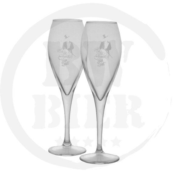 Logo 1 kleur - 6x Champagneglas - Bierwinst Goedkoop Horeca Champagneglazen Bedrukken