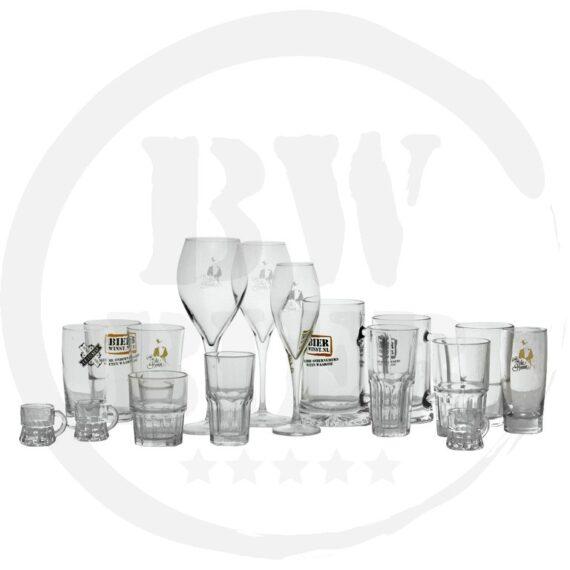 Logo 1 kleur - 6x Champagneglas - Bierwinst Horeca Bier Champagneglazen Bedrukken