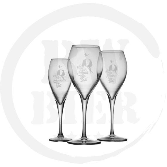 Logo 1 kleur - 6x Champagneglas - Bierwinst Horeca BierpullenFull Color Bedrukken