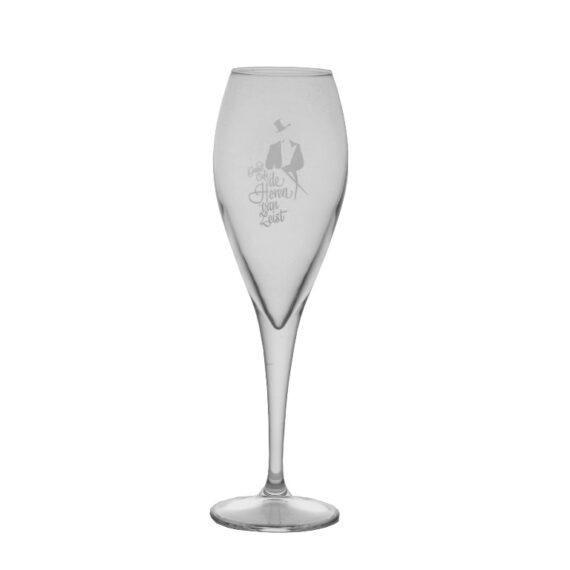 Logo 1 kleur - 6x Champagneglas - Bierwinst Horeca Champagneglazen Bedrukken