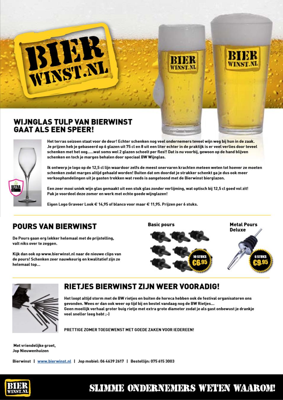 Bierwinst Mailing - Maart 2015